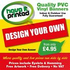 PVC Heavy Duty Advertising Sign Outdoor Banner UV & Water Resistant Free Design