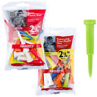 Masters Mixed Colours Plastic Cone Golf Tees - New Strong Short Extra Long