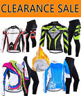 SALE Long Sleeve Cycling Jersey Racing Thermal Fleece Bike Clothing Pants Tights