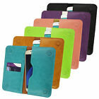 PU Leather Magnetic Slim Wallet Case Cover Sleeve Holder fits GoFone phones