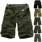 New Mens Sports Shorts Pants Casual Cargo Cotton Pant Combat Army Beach Trousers