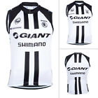 Mens Team Cycling Vest Bike Racing Outfits Tops Gear Sleeveless Pockets Sweater