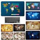 """World Map Rubberized Hard Case For new Macbook PRO 13"""" Touch Bar /Older Pro 13"""""""