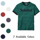 Timberland Men's Short Sleeve Linear Logo Cotton T-Shirt Style A1KC2/A1Q3I image