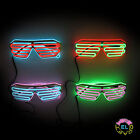 EL Glasses – Glow Shutter Glasses in White - Two Colour with Choice of Drivers