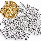 500Pcs Silver/Golden/Nickel/Copper Plated Round Spacer Beads For Jewelry DIY 2mm