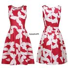 Meaneor Women Print Sundress Casual Fit and Flare Sleeveless Dress OO5501