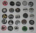 versch. Punk Button / Pin (Punkrock Hardcore Crass Conflict Adicts acab uk subs)