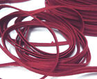 10yds / 250 yds Vintage Dark Red Thin Flat Elastic Band 1/8 inch 3mm width EB70