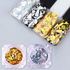 Born Pretty Holographic Nail Sequins Laser Gold Silver Glitter Paillette Flakes