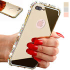 iPhone 8 7 6 5s 3D Crystal Rhinestone Diamond Luxury Bling Metal Bumper Case