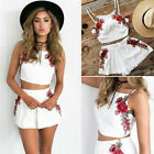 NEW Women White Short Sleeve Summer Playsuit Bodycon Party Club Jumpsuit Romper