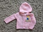 BABY GIRLS LOVELY PINK HOODED CARDIGAN age 0-3  3-6  6-9 MONTHS