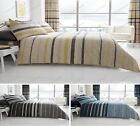 New Modern Blocks Stripes Duvet Cover Bed Set With Pillow Cases and Curtains