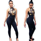 Women Lace Sleeveless Summer Playsuit Bodycon Party Club Jumpsuit Long Romper