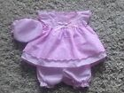 BABY GIRLS PINK FRILLY BRODERIE ANGLAISE DRESS, PANTS & HAT SET 0-3 3-6 6-9
