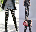 Ladies Women Sexy Leather Look Leggings Skinny Slim Cotton Stretch Pant Stylish