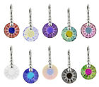 Sterling Silver Sun Earrings Hooks with SWAROVSKI 6724G 12mm Frosted Crystals