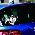 Auto Panther Stickers Animal Decor White Car Styling Vehicle Window Mirror Decal