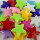 100/500pcs Mixed Colour Star Shape Plastic Beads Eco-friendly Material 18mm