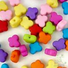 100/500pcs Mixed Colour Butterfly Shape Plastic Small Beads Eco-friendlyMaterial