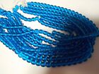 YOUR CHOICE: CAPRI BLUE SMOOTH GLASS BEADS/ 4 SIZES!!!ROUNDS AND WAFERS!
