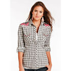 R4S2211 Panhandle Ladies Addison Long Sleeve Western Shirt with Embroidery NEW