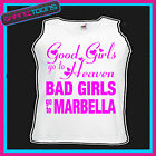 BAD GIRLS GO TO MARBELLA  HEN PARTY HOLIDAY VEST TOP