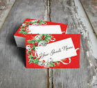 JINGLE BELLS HOLLY CHRISTMAS WEDDING PLACE CARDS, TAGS or ESCORT CARDS #194