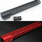 15'' Black/Red/Tan Slim Keymod Handguard Free Float Picatinny Rail Mount STEEL