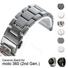 22mm Ceramic Watch Band Strap Wristband for Moto 360 2nd Gen 2015 Men 46mm US