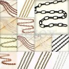 4m/13.12feet  Chains Key Bulk Chain Necklace Wholesale 8 Shape 13 Sizes New