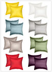 Aiking Home 2-Pieces Solid Faux Silk Euro Shams, Pillow Covers Multi-Size/Color image