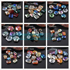 Mixed Colors Assorted Shape Faceted Glass Loose Spacer Beads Jewelry Findings