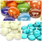 50 x Round Coloured Glass Pebbles ***Best Choice of Colours and Mixes***