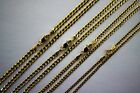 "10K SOLID GOLD CUBAN LINK CHAIN NECKLACE FOR MEN WOMEN 2mm~4mm 16""~30"""