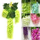 Artificial Silk Hanging Plants Wisteria Flower Vine Hanging Wedding Party Decor