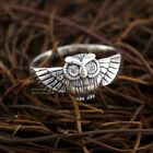 925 Sterling Silver Vintage Style Owl Zirconia Animal  Ring A3541