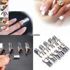 10PCS Beauty Nails UV Gel Acrylic French Tips Nail Art Extension Guide Form Tool