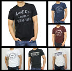 New Abercrombie Fitch A&F by Hollister Men Applique Graphic Logo Tee Shirt Size