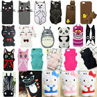3D Cartoon cute cat Soft Silicone Case Cover Back Skin For Various Apple iPhone