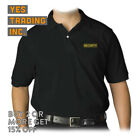 NEW MENS SECURITY PRINTED POLO T- SHIRT SECURITY UNIFORM COSTUME GUARD POLICE