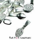 Glue On Spoon Bail Finding 16mm Silver Plated Jewellery Diy Tag Cabochon Pendant