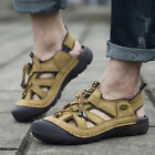 Men's Leather Fisherman Beach Summer Sports Sandals Outdoor Waterproof Shoes New