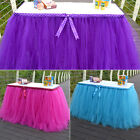 3 Colors Tulle TUTU Table Skirt Tableware Wedding Party Xmas Baby Shower Decor