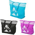Ladies Womens Beach Bag Tote Bags Summer Extra Large Shoulder Shop Zip Blue