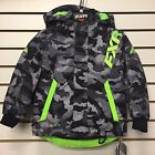 FXR CHILD/YOUTH SQUADRON Snowmobile Jacket GREY URBAN CAMO/LIME Free Shipping