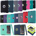 NEW Shockproof Hybrid Heavy Duty Rubber Hard Case Cover For Apple iPad Models UK