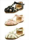 Girl's Stylish Closed Toe Cut Out Stud Summer Sandal T Strap Toddler size