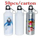 50pcs/lot-500ml Blank Aluminum Sports Bottle For Sublimation Printing, Dia 2.68""